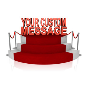ID# 12122 - Custom Text On Platform With Red Carpet - Presentation Clipart