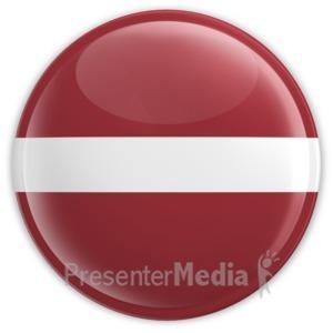 ID# 12126 - Latvia Button - Presentation Clipart