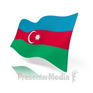 ID# 12131 - Azerbaijan Flag - Presentation Clipart