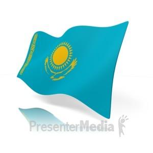 ID# 12132 - Kazakhstan Flag - Presentation Clipart
