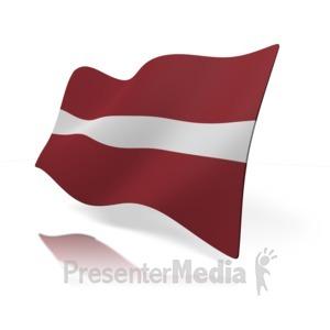 ID# 12134 - Latvia Flag - Presentation Clipart