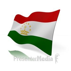 ID# 12139 - Tajikistan Flag - Presentation Clipart