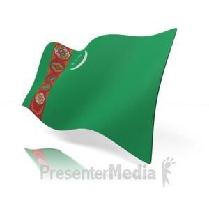 ID# 12140 - Turkmenistan Flag - Presentation Clipart