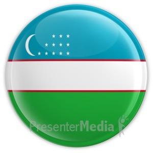 ID# 12145 - Uzbekistan Badge - Presentation Clipart