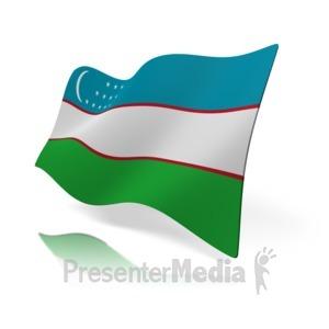 ID# 12146 - Uzbekistan Flag - Presentation Clipart
