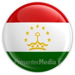 ID# 12148 - Tajikistan Badge - Presentation Clipart