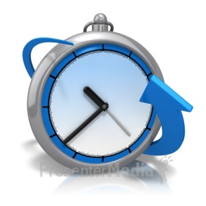 ID# 12158 - Bend Around Time - Presentation Clipart