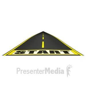 ID# 12170 - Journey Start Point  - Presentation Clipart