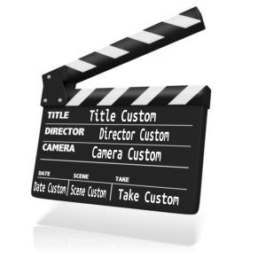 ID# 12195 - Custom Clap Board Insert - Presentation Clipart