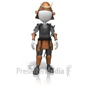 ID# 12197 - Samurai Pose Standing - Presentation Clipart