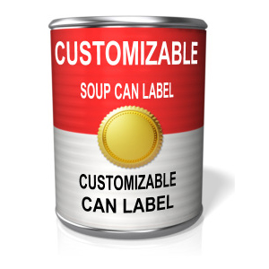 ID# 12234 - Custom Tin Can - Presentation Clipart