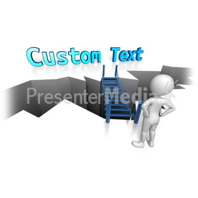 Bridge To Custom Text PowerPoint Clip Art
