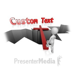 ID# 12262 - Custom Cross Bridge - Presentation Clipart