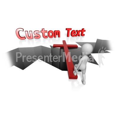 Custom Cross Bridge PowerPoint Clip Art