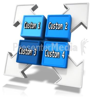 Custom Square Division Element PowerPoint Clip Art