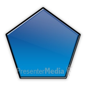 ID# 12273 - Pentagon Flow Chart Symbol - Presentation Clipart