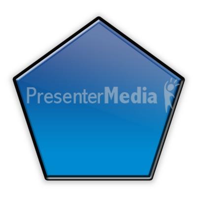 Pentagon Flow Chart Symbol PowerPoint Clip Art