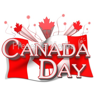 Canada Day Flag And Text Presentation Clipart Great