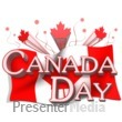Canada Day Flag And Text Presentation clipart