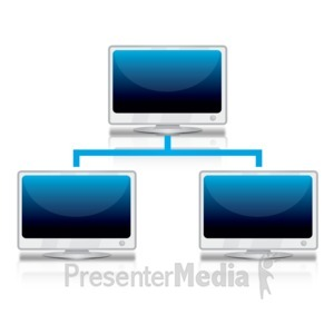 ID# 12303 - Computer Network Reflection - Presentation Clipart