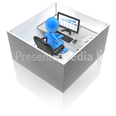 Working In A Box PowerPoint Clip Art