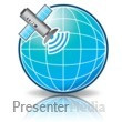 Satellite Signal Globe Presentation clipart