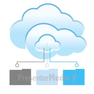 ID# 12306 - Cloud Files Transfer - Presentation Clipart