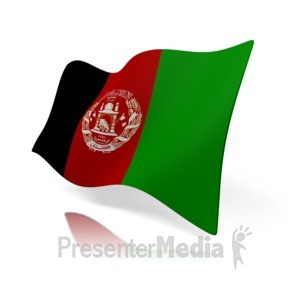 ID# 12313 - Afghanistan Flag - Presentation Clipart