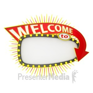 ID# 12322 - Welcome To Sign - Presentation Clipart