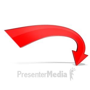 ID# 12336 - Stylized Curved Arrow - Presentation Clipart