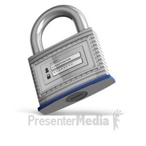 ID# 12341 - Secure Login - Presentation Clipart