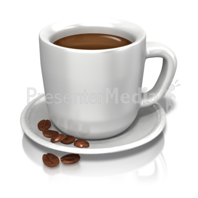 Coffee Cup Beans PowerPoint Clip Art