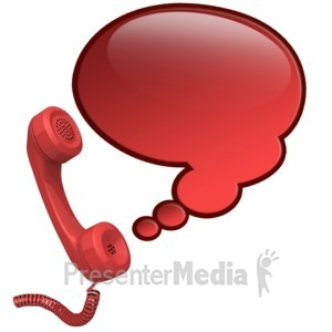 ID# 12346 - Phone Talk Bubble - Presentation Clipart