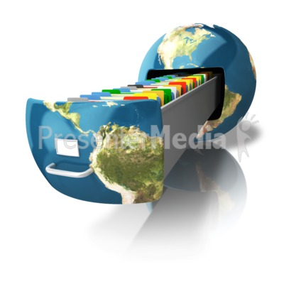 File Cabinet Earth PowerPoint Clip Art