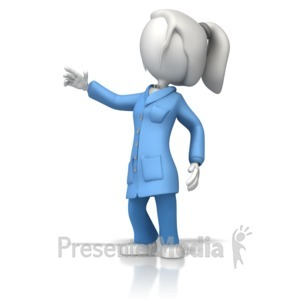 ID# 12372 - Esd Coat Lady Scientist - Presentation Clipart