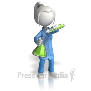 ID# 12390 - Woman Scientist Pour Testtube - Presentation Clipart