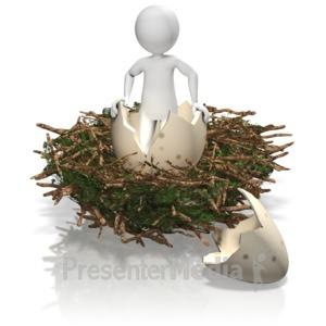 ID# 12410 - Figure Nest Egg - Presentation Clipart