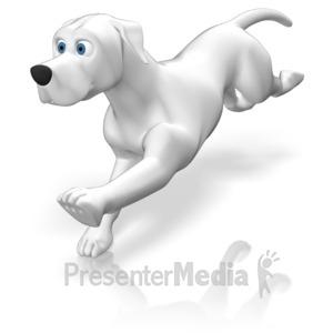 ID# 12414 - Dog Running - Presentation Clipart