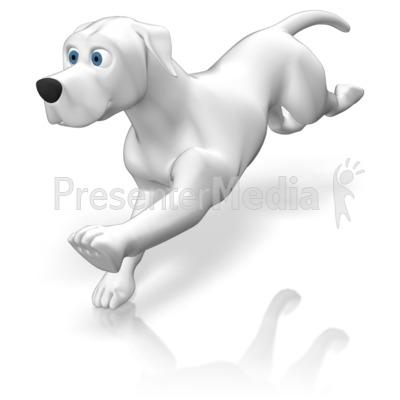 Dog Running PowerPoint Clip Art