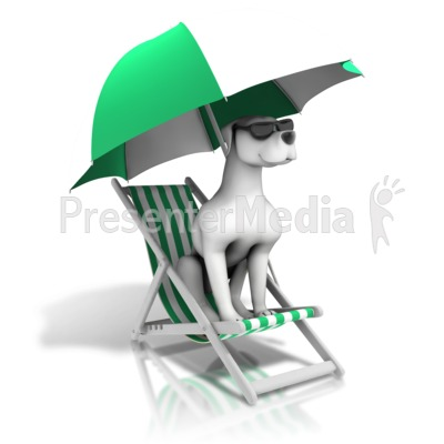 Lounging Dog Days Summer PowerPoint Clip Art