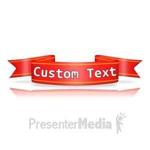 ID# 12426 - Custom Red Flag Banner - Presentation Clipart
