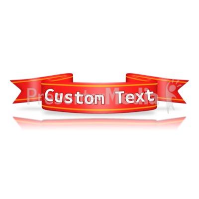 Custom Red Flag Banner PowerPoint Clip Art
