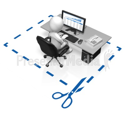 Office Worker Cut Here - Business and Finance - Great Clipart for ...