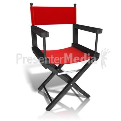 Movie Directors Chair PowerPoint Clip Art