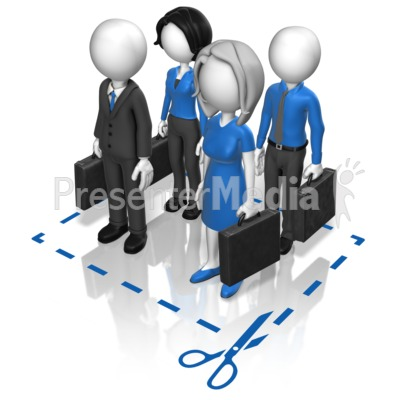 Business Team Cut Here PowerPoint Clip Art