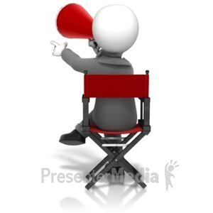 ID# 12453 - Director Sitting In Chair - Presentation Clipart