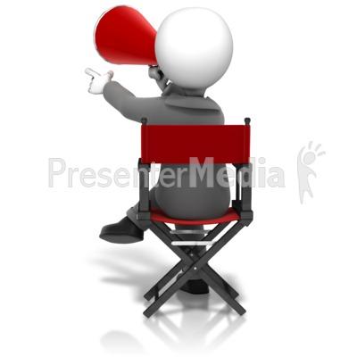 Director Sitting In Chair PowerPoint Clip Art