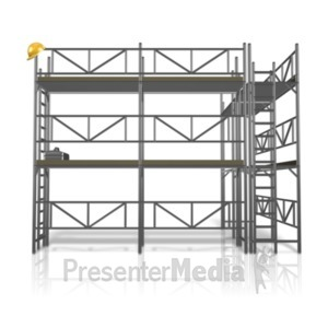 ID# 12454 - Scaffolding Construction Area - Presentation Clipart