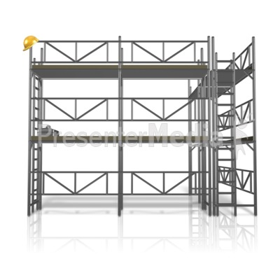 Scaffolding Construction Area Presentation Clipart