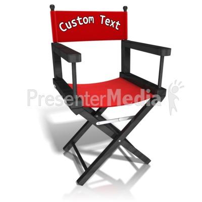 Delightful ID# 12458   Custom Movie Directors Chair   Presentation Clipart
